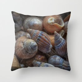 Netted dog whelks Throw Pillow