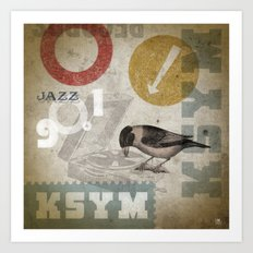 KSYM Turntable Jazz Bird Art Print