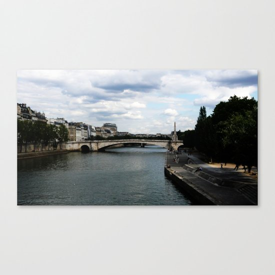 Les bords de Seine Canvas Print