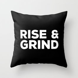 Rise & Grind Gym Quote Throw Pillow
