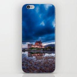 Dark Skies at Eilean Donan Castle iPhone Skin