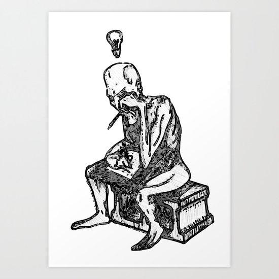 Writer's Block: Gray Variant Art Print