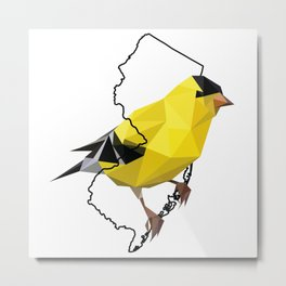 New Jersey – American Goldfinch Metal Print