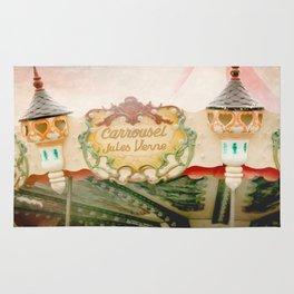 Jules Verne Carousel Art  Rug