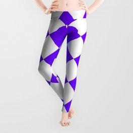 Large Diamonds - White and Indigo Violet Leggings