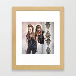 Jagged Edges Framed Art Print