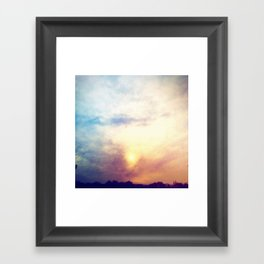 Before the storm, Framed Art Print