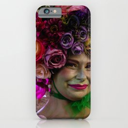 Flower lady iPhone Case