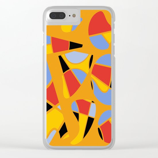 Abstract #91 Clear iPhone Case