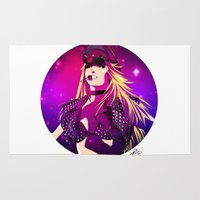 britney spears Area & Throw Rugs featuring Britney Spears Femme Fatale Tour by Eduardo Sanches Morelli
