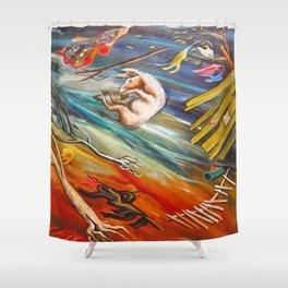 "African American Classical Masterpiece ""Big Wind in Georgia"" by Hale Woodruff Shower Curtain"