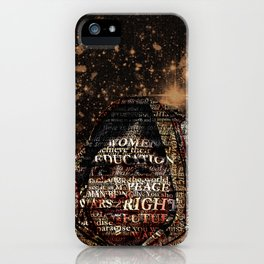 One Book, One Pen, One Child, and One Teacher Can Change The World !!! iPhone Case