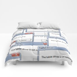 The tablet driver is not running Comforters