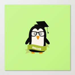 Penguin nerd from Dallas T-Shirt for all Ages Canvas Print