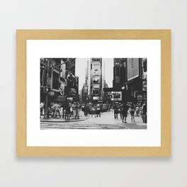 times square, ny Framed Art Print
