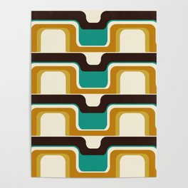 Mid-Century Modern Meets 1970s Teal Poster