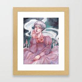 Cathy on the Moors Framed Art Print