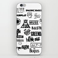 bands iPhone & iPod Skins featuring Alternative Bands by Hus Photography