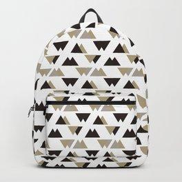 Black Gray Triangle Pattern. Geometric Pattern. Art Deco Backpack