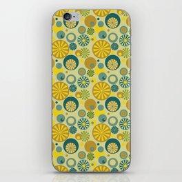 Circle Frenzy - Yellow iPhone Skin