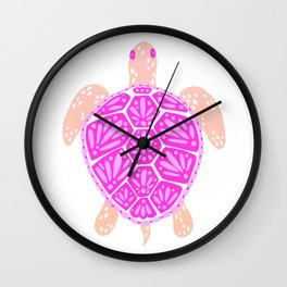 Sea Turtle – Pink Palette Wall Clock