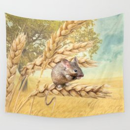 Little Field Mouse Wall Tapestry