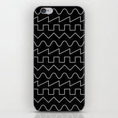 Waves // Black iPhone & iPod Skin