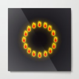 Burnin' Ring-O-Fire Metal Print