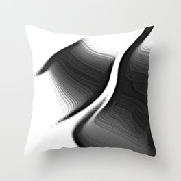 the shivers in black and white Throw Pillow