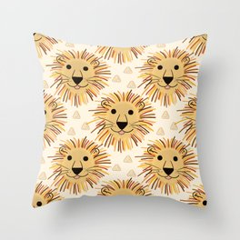 Lion Safari Throw Pillow