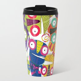 Colored lizards Travel Mug