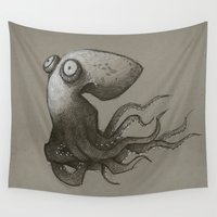 octopus Wall Tapestries featuring Octopus by Tim Probert