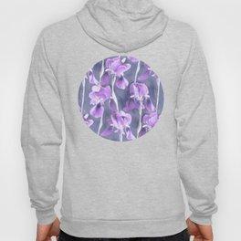 Simple Iris Pattern in Pastel Purple Hoody