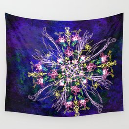 Abstract delicate silk flowers Wall Tapestry