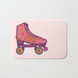Pink  Rollerskate Bath Mat
