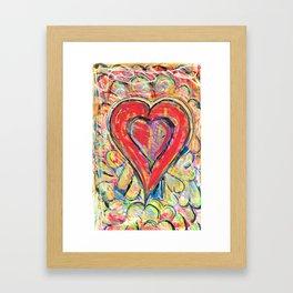 Jasper Heart Framed Art Print