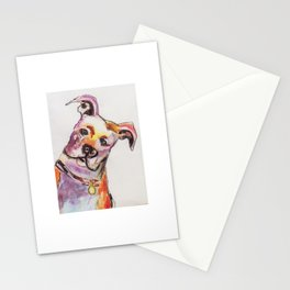 Pit bull Watercolor Stationery Cards