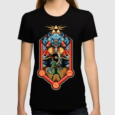 Epic Triforce of the Gods Womens Fitted Tee SMALL Black