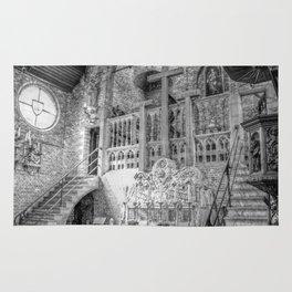 Church Chapel Black & White Rug