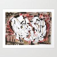 friendship Art Prints featuring Friendship by 5wingerone
