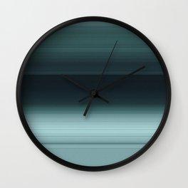 Caribbean Teal Ombré Design Wall Clock