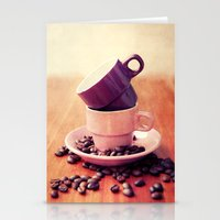 cafe Stationery Cards featuring LE CAFE by Claudia Drossert