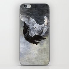 Yin Yang Owl and Raven iPhone & iPod Skin