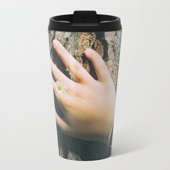 Hand Paquerette Metal Travel Mug