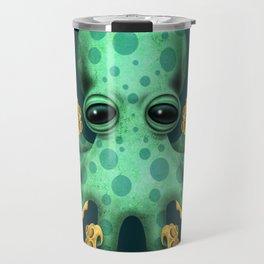 Cute Green Baby Octopus Travel Mug