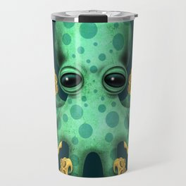 Cute Green Baby Octopus Travel Mug