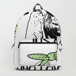 Just a Girl Who Loves Goats Backpack