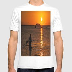 We only part to meet again Mens Fitted Tee MEDIUM White