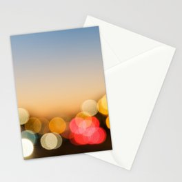 Bokeh Nightlights Stationery Cards