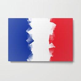 France Flag Cubic Metal Print